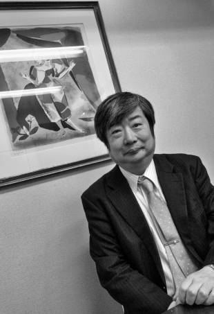 In his corner: Lawyer Yuichi Kaido is cautiously confident about Ikeda