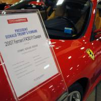 This 2007 Ferrari fetched $270,000 at an auction last Saturday, netting The Donald a nice profit. | AFP-JIJI