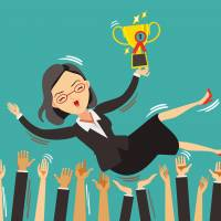 Time of her life: Many women start to feel comfortable in their company in their mid-to-late 20s — the same time that Japanese society is pressuring them to get hitched. | ISTOCK