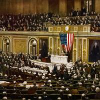 When U.S. President Woodrow Wilson asked Congress to declare war on Germany on April 2, 1917, he set in motion a process that killed tens of millions of people.   THE LIBRARY OF CONGRESS