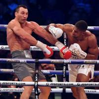 Joshua floors Klitschko in heavyweight title bout