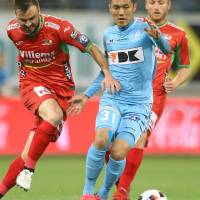 Kubo lifts Gent to draw in playoffs