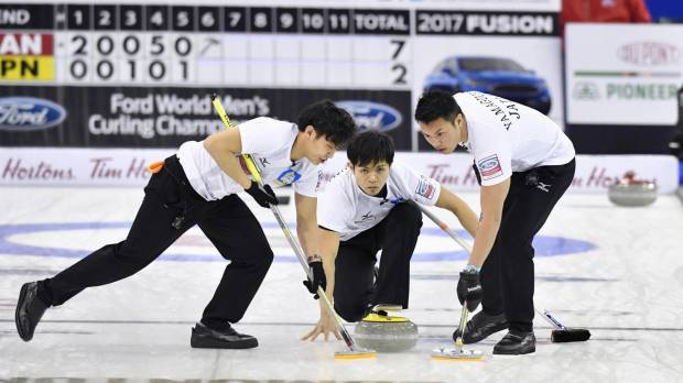 Japan men's curling squad books spot in 2018 Olympics