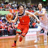 San-en Neo Phoenix guard Shinnosuke Oishi is trying to help his team secure a playoff spot over the next few weeks. | B. LEAGUE