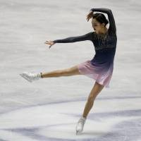 Russia's Evgenia Medvedeva competes in the women's free skate on Saturday. | REUTERS