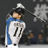 The Fighters' Shohei Otani is off to a fast start in 2017. | KYODO