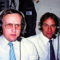 Columnist Wayne Graczyk (left), seen  with  Marty Kuehnert, also worked as a broadcaster during his 40-plus years in Japan. | COURTESY OF MARTY KUEHNERT