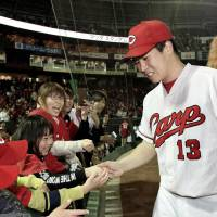 Carp rookie Kato loses no-hit bid in ninth in first career start