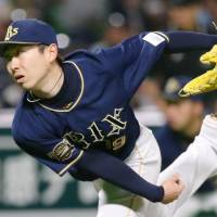 Buffaloes hurler Kaneko tosses two-hit shutout