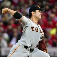 Giants' Sugano outduels Carp's Nomura, tosses second consecutive shutout