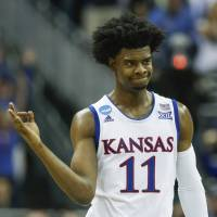 Kansas star Josh Jackson is leaving the program after one season. He declared for the NBA draft on Monday. | USA TODAY / VIA REUTERS