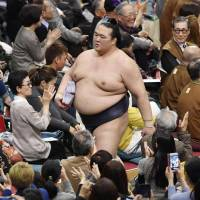 Sumo chiefs reveal Kisenosato has chest muscle damage