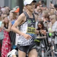 Osako shines in marathon debut, takes 3rd in Boston