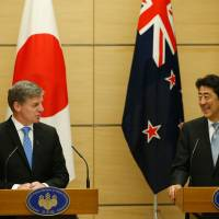Japan, New Zealand leaders affirm commitment to future of TPP