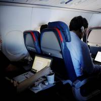 No carry-on laptop ban on board flights from Europe for now: U.S.