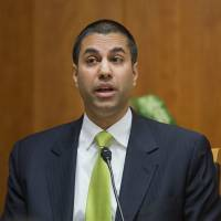 Federal Communication Commission Commissioner Ajit Pai speaks during an open hearing and 2015 vote on 'Net Neutrality' in Washington. The FCC has voted to kick off the repeal of 'net neutrality' rules designed to keep broadband providers like AT&T, Verizon and Comcast from interfering with the internet. | AP