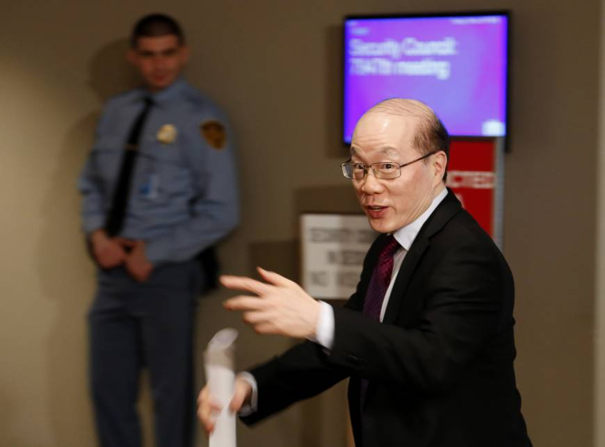 Chinese Ambassador to the United Nations Liu Jieyi enters a Security Council meeting about North Korea at U.N. headquarters Tuesday. | AP