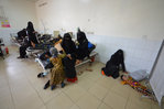 A girl infected with cholera lies on the ground of a hospital room in the Red Sea port city of Hodeidah, Yemen, May 14. | REUTERS