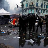 Sao Paulo police en masse make sweep through city's 'crackland' in bid to bust up drug trade