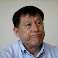 Kim Gwang-ho speaks during an interview in Yongin, South Korea, on April 19. | REUTERS
