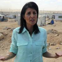 At odds with Trump, envoy Haley vows more aid for Syrians during visit to Jordan refugee camp