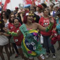 Top Brazilian musicians stage protest concert in Rio, demanding president's ouster