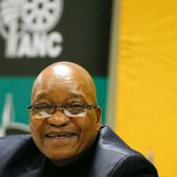 South African ruling party debates fate of President Zuma