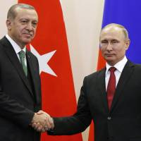 Russia and Turkey agree to support four safe-zones in Syria as rebels quit truce talks