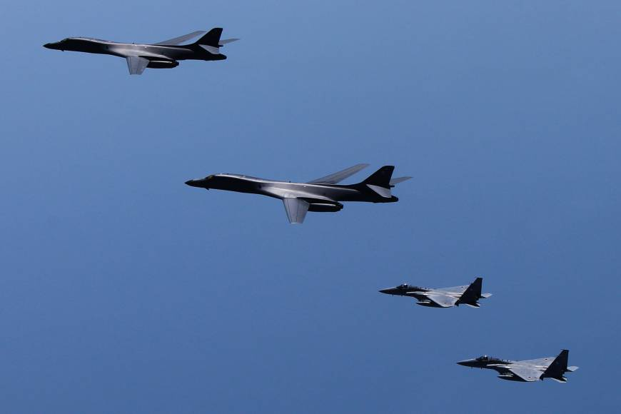 North Korea blasts South for 'nuclear bomb-dropping' drill with U.S. B-1B strategic bomber