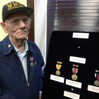 Pacific WWII, Occupation vet, 91, receives overdue medals in Rhode Island