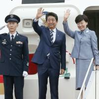 Abe departs for G-7 summit in Italy, trip to Malta