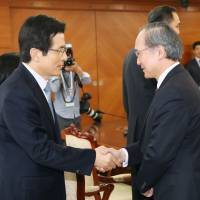 Ambassador Nagamine holds first meeting with acting South Korean president since end of recall