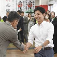 Nation's youngest mayor, appealing bribery conviction in Gifu, wins third term uncontested
