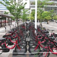 Urban Japan trying its hand at bicycle-sharing