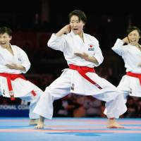 Oita woman pushes herself as firefighter, strives for karate Olympic gold