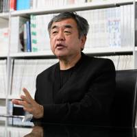Kengo Kuma, architect for the new National Stadium for the 2020 Olympics, says during an interview in Tokyo this month that he wants to utilize Japanese timber for the centerpiece venue. | BLOOMBERG