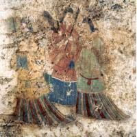 Restored mural from ancient Japanese tomb in Nara shown off to public