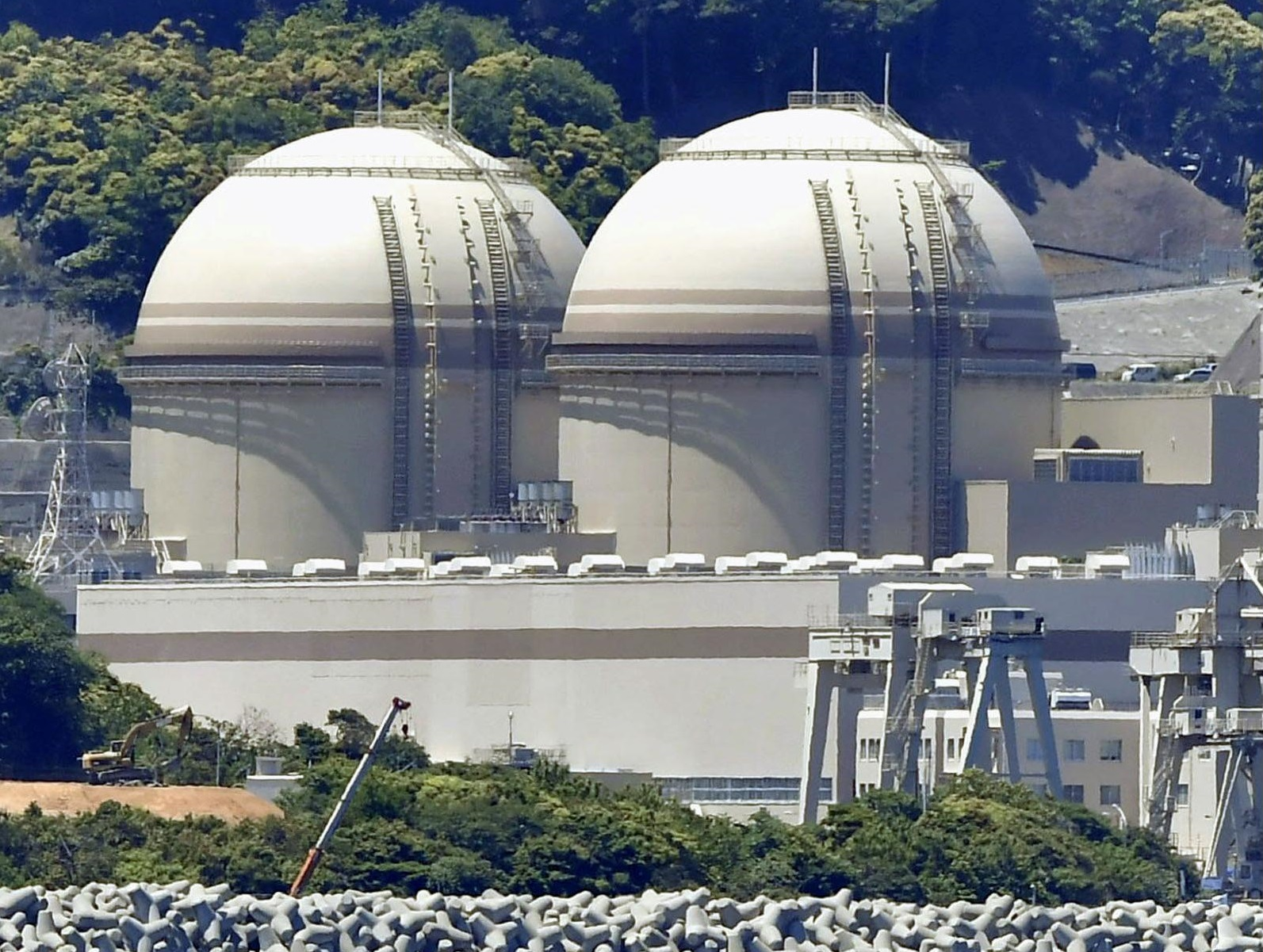 The nuclear safety watchdog gave the green light Wednesday to the restart of the Nos. 3 and 4 reactors at the Oi nuclear power plant in Fukui Prefecture. | KYODO