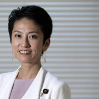 Renho takes Abe to task over policies on 'womenomics,' Constitution