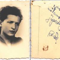 On the back of a photograph of Sonia Reed, a message in Polish reads: 'Remember me — to the nice Japanese person.' Reed handed the photo to a Japanese travel agent escorting refugees aboard a JTB vessel in the spring of 1941. | COURTESY OF DEBORAH REED