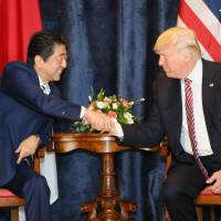 Abe, Trump call for pressure on North Korea as G-7 summit gets underway