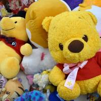 Soft toys are among items on sale at a secondhand market of unclaimed goods in Saikaya department store in Fujisawa, Kanagawa Prefecture, in April. | SATOKO KAWASAKI
