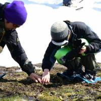 Sensing nature: A visually impaired child is guided in a program to experience the  wonders of nature at The Afan Woodland Trust. | COURTESY OF THE AFAN WOODLAND TRUST