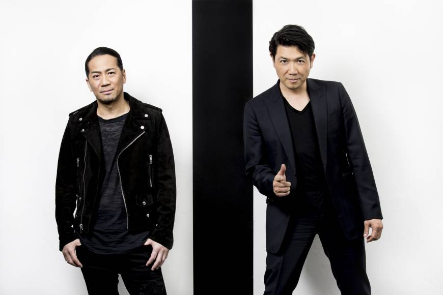 Dynamic duo: Hiro (left), leader of the mega-group Exile, and Tetsuya Bessho, president of Short Shorts Film Festival & Asia, have joined forces for this year's festival. | MARTIN HOLTKAMP