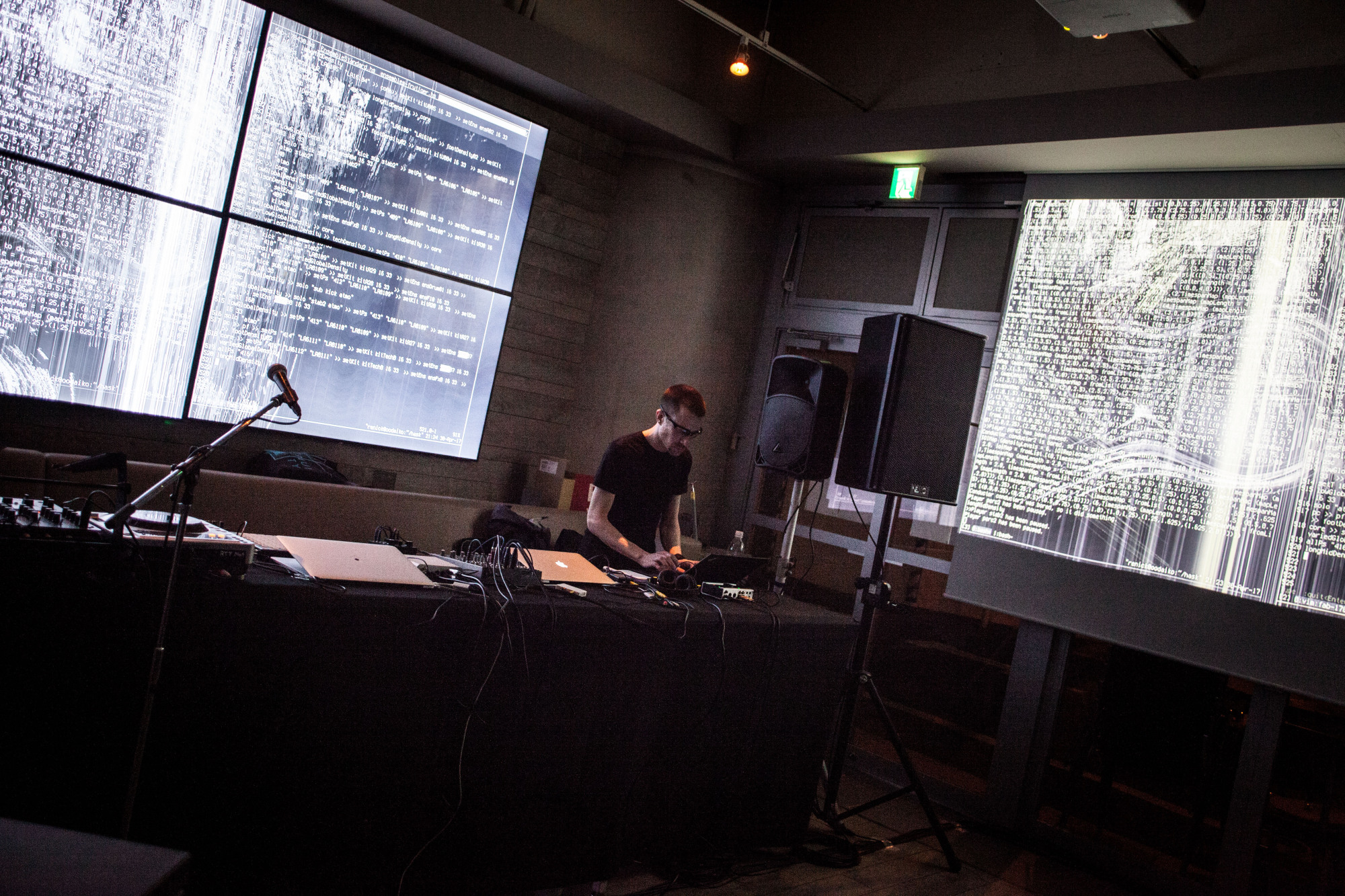Data with a beat: Renick Bell live-codes a set using algorithms at Fab Cafe in Tokyo.   ELLE HARRIS
