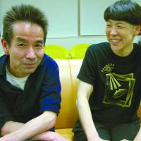 Director Shuji Onodera (left) and Momoko Fujita, his partner and the co-founder with him of Company Derashinera, pictured during their interview. | NOBUKO TANAKA