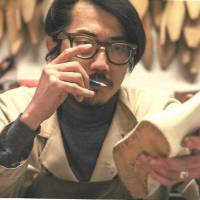 Hidetaka Fukaya works on a shoe in his workshop in Florence, Italy. | COURTESY OF FUKAYA HIDETAKA