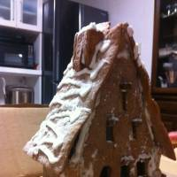 Labor of love: A gingerbread house painstakingly created by one of Xander Peterson's sixth-grade students.