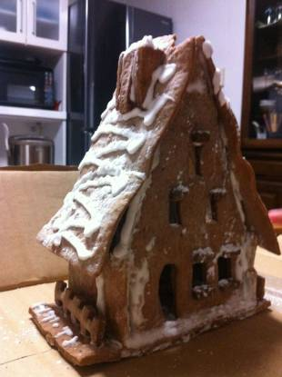 Labor of love: A gingerbread house painstakingly created by one of Xander Peterson