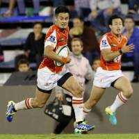 Fly half Yu Tamura led the Sunwolves to their first win of the Super Rugby season against the Bulls on April 8. | KYODO